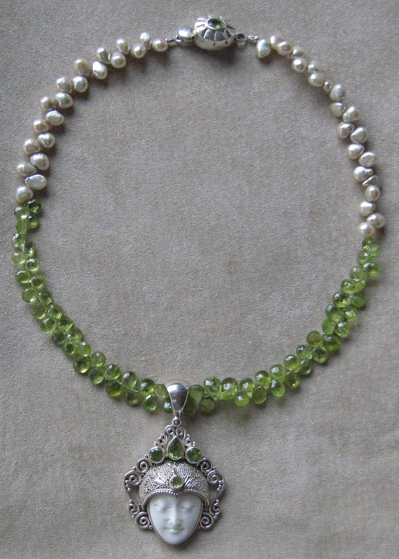 good and empowering l peridot daikomyo page gems health pearl pearls necklace